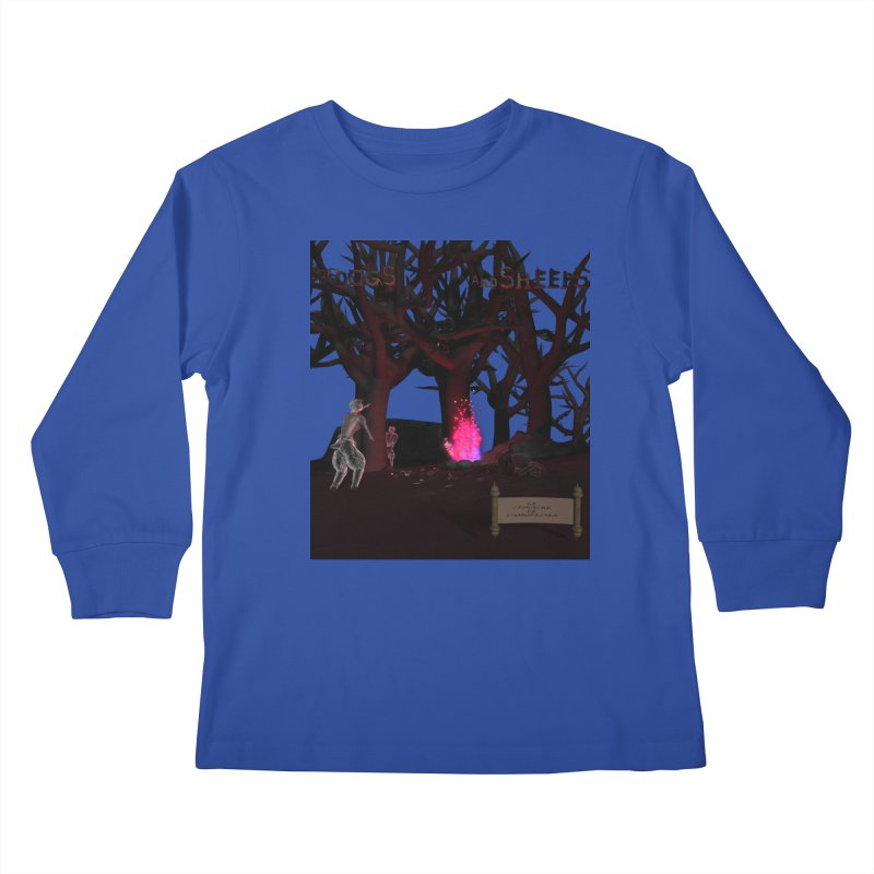 Of Dogs and Sheeps (Titled) Kids Longsleeve T-Shirt by CIULLO CORPORATION's Artist Shop
