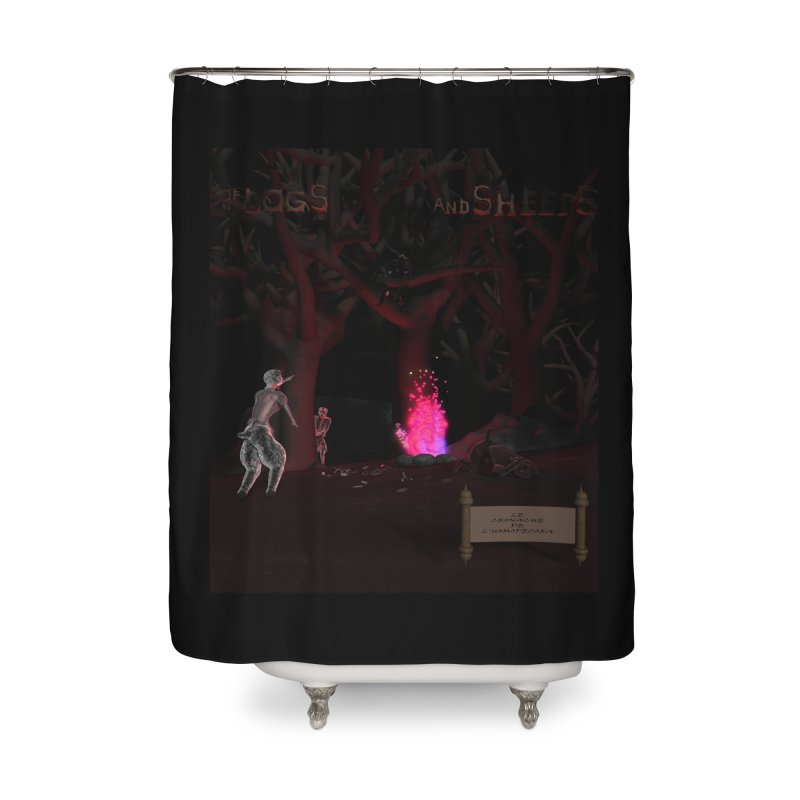 Of Dogs and Sheeps (Titled) Home Shower Curtain by CIULLO CORPORATION's Artist Shop