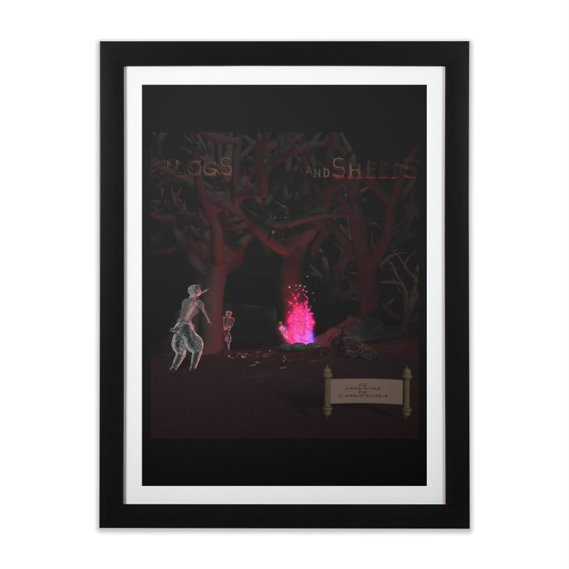 Of Dogs and Sheeps (Titled) Home Framed Fine Art Print by CIULLO CORPORATION's Artist Shop