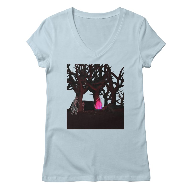 Of Dogs and Sheeps Women's V-Neck by CIULLO CORPORATION's Artist Shop