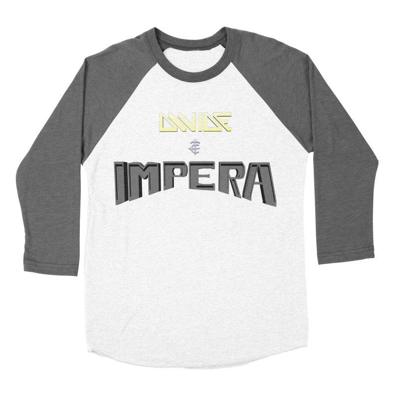 DIVIDE et IMPERA (Title) Women's Baseball Triblend T-Shirt by CIULLO CORPORATION's Artist Shop