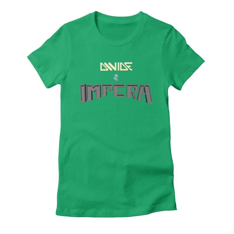 DIVIDE et IMPERA (Title) Women's Fitted T-Shirt by CIULLO CORPORATION's Artist Shop
