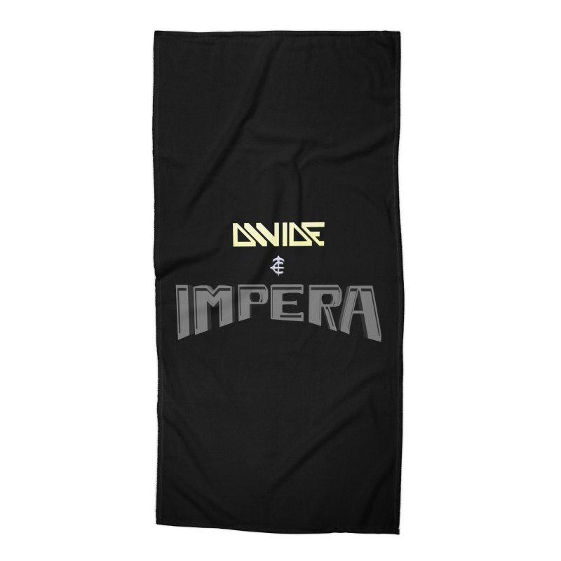DIVIDE et IMPERA (Title) Accessories Beach Towel by CIULLO CORPORATION's Artist Shop