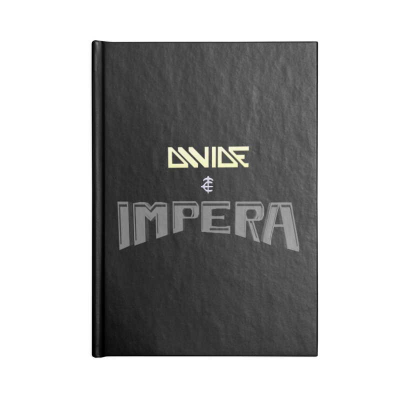 DIVIDE et IMPERA (Title) Accessories Notebook by CIULLO CORPORATION's Artist Shop