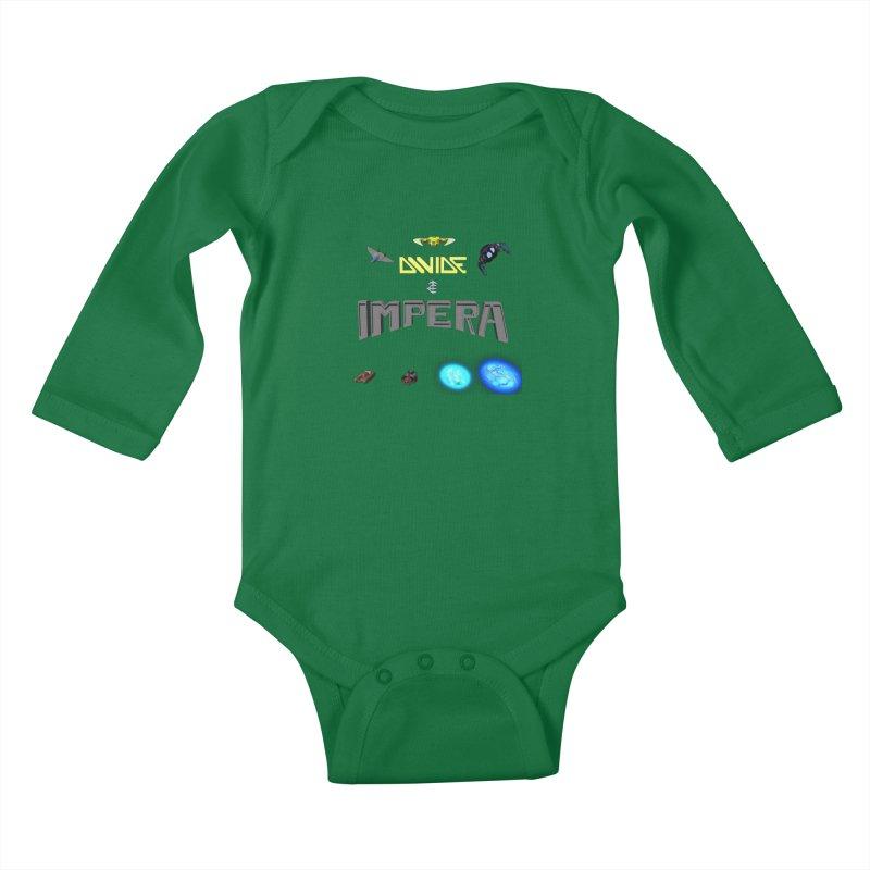 DIVIDE et IMPERA (Titled) Kids Baby Longsleeve Bodysuit by CIULLO CORPORATION's Artist Shop