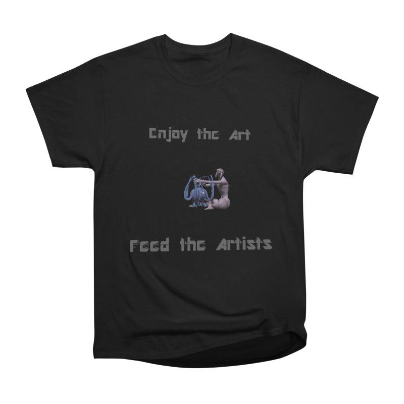 Feed the Artists (Chyrkyan) Women's Heavyweight Unisex T-Shirt by CIULLO CORPORATION's Artist Shop