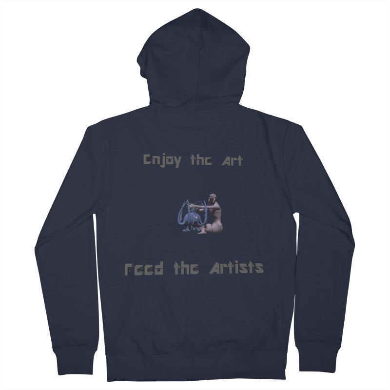 Feed the Artists (Chyrkyan) Men's Zip-Up Hoody by CIULLO CORPORATION's Artist Shop