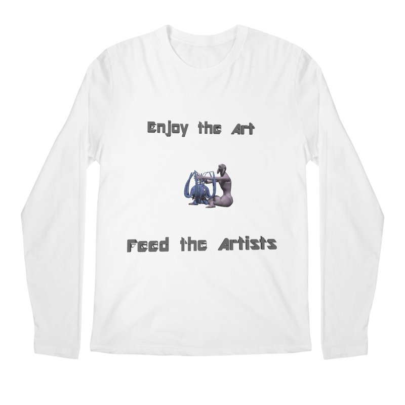 Feed the Artists (Chyrkyan) Men's Longsleeve T-Shirt by CIULLO CORPORATION's Artist Shop