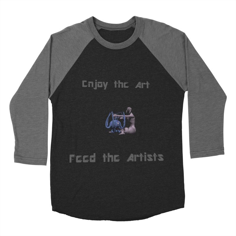 Feed the Artists (Chyrkyan) Men's Baseball Triblend T-Shirt by CIULLO CORPORATION's Artist Shop