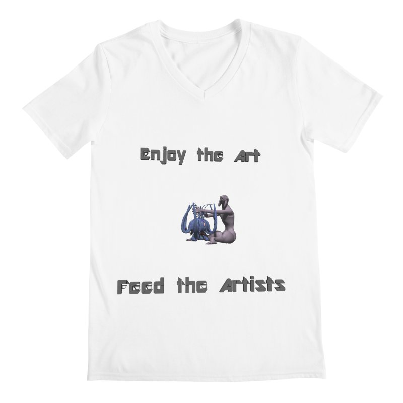 Feed the Artists (Chyrkyan) Men's V-Neck by CIULLO CORPORATION's Artist Shop