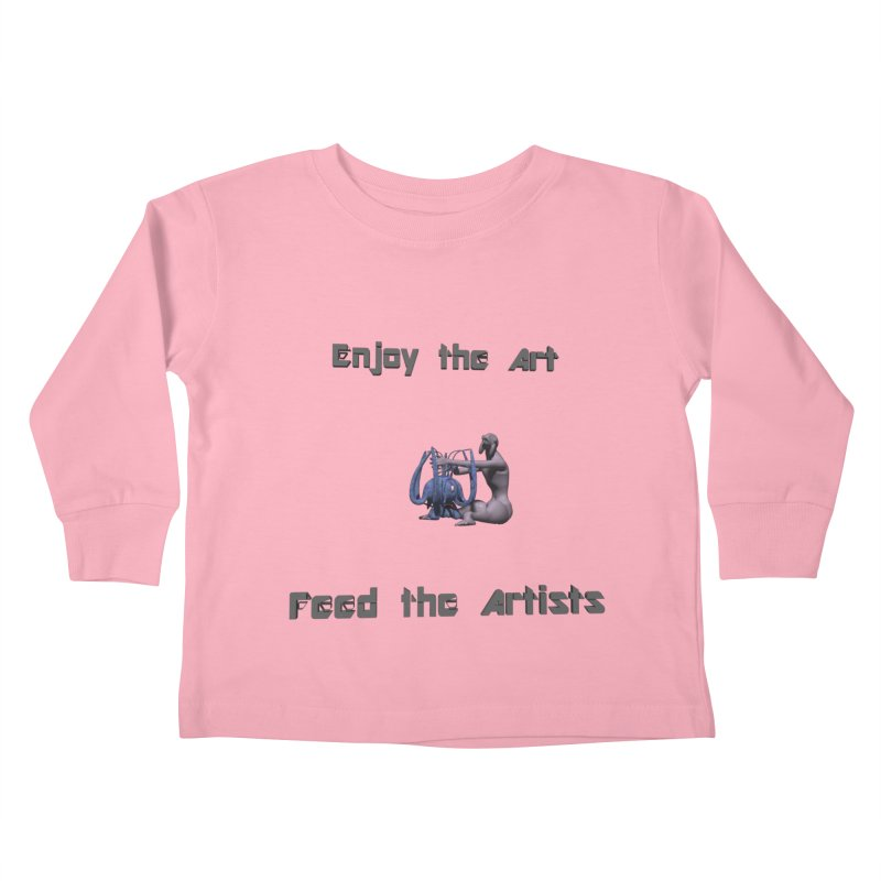 Feed the Artists (Chyrkyan) Kids Toddler Longsleeve T-Shirt by CIULLO CORPORATION's Artist Shop