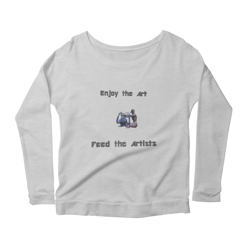 Feed the Artists (Chyrkyan) Women's Longsleeve Scoopneck  by CIULLO CORPORATION's Artist Shop