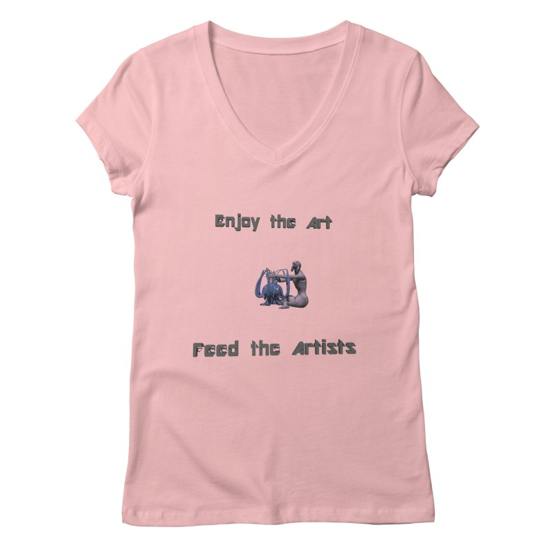 Feed the Artists (Chyrkyan) Women's V-Neck by CIULLO CORPORATION's Artist Shop