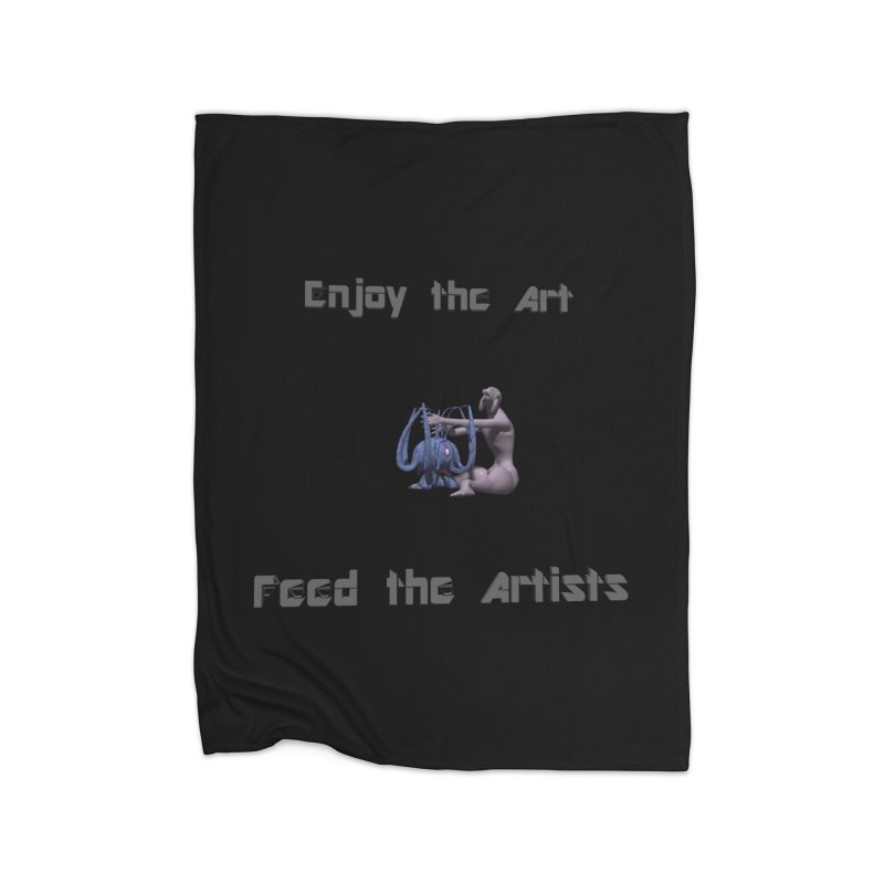 Feed the Artists (Chyrkyan) Home Blanket by CIULLO CORPORATION's Artist Shop