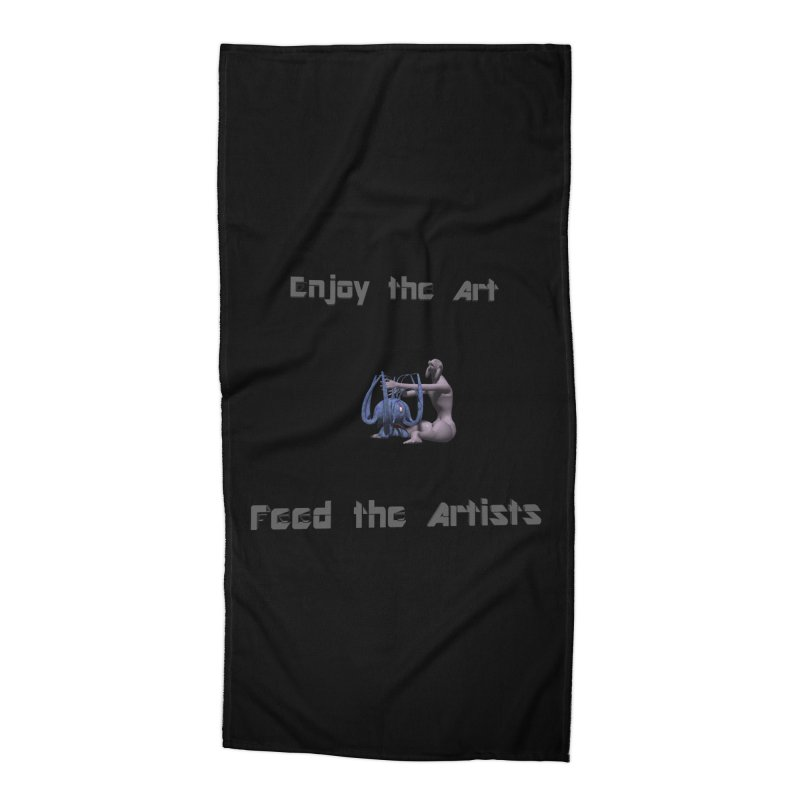 Feed the Artists (Chyrkyan) Accessories Beach Towel by CIULLO CORPORATION's Artist Shop