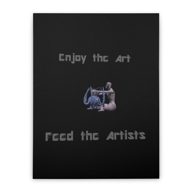Feed the Artists (Chyrkyan) Home Stretched Canvas by CIULLO CORPORATION's Artist Shop
