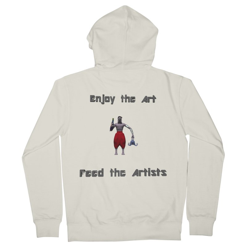 Feed the Artists (Chyrkyan casual) Men's Zip-Up Hoody by CIULLO CORPORATION's Artist Shop