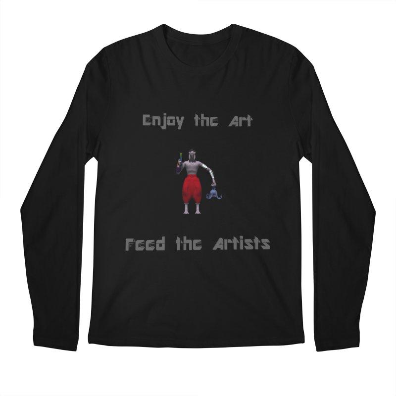 Feed the Artists (Chyrkyan casual) Men's Longsleeve T-Shirt by CIULLO CORPORATION's Artist Shop