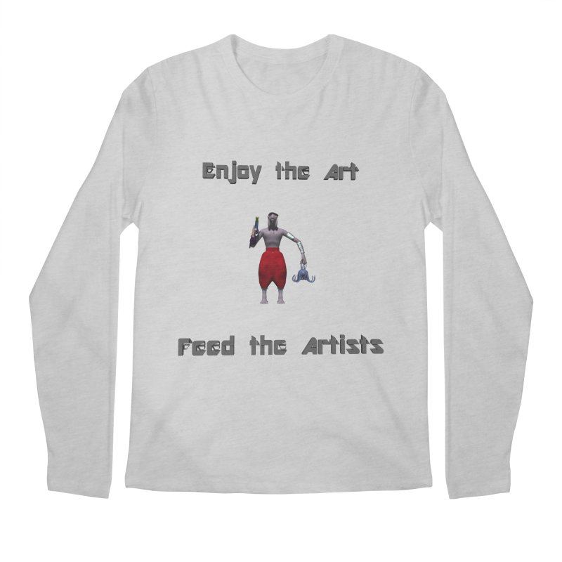 Feed the Artists (Chyrkyan casual) Men's Longsleeve T-Shirt by CIULLO CORPORATION's Artist Shop