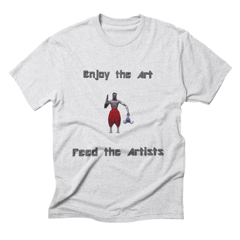 Feed the Artists (Chyrkyan casual) Men's Triblend T-Shirt by CIULLO CORPORATION's Artist Shop