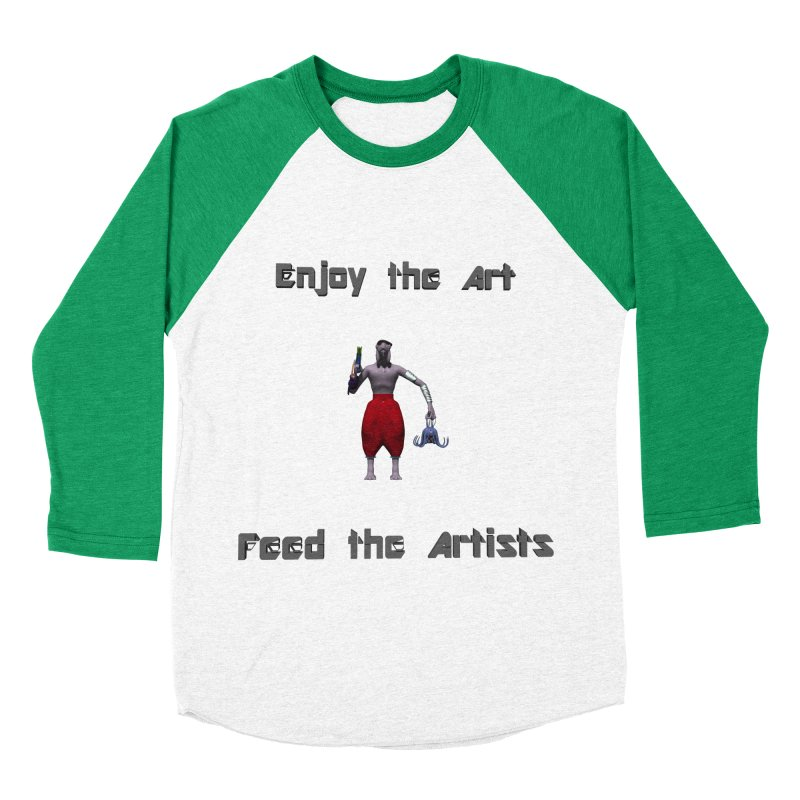 Feed the Artists (Chyrkyan casual) Women's Baseball Triblend T-Shirt by CIULLO CORPORATION's Artist Shop