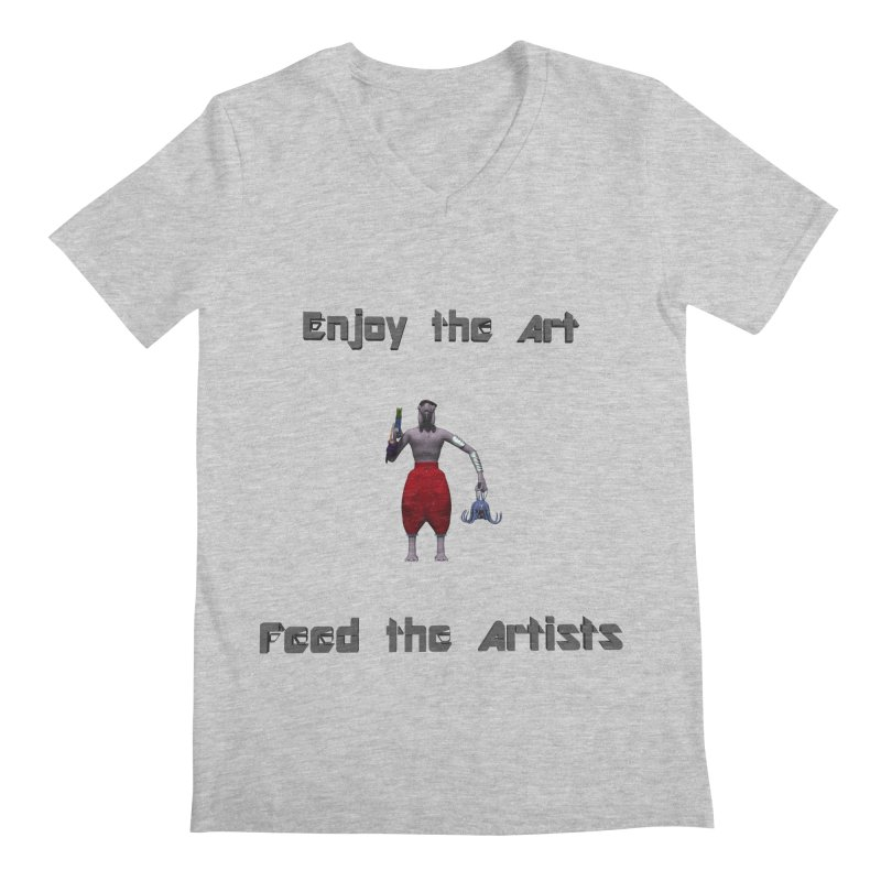 Feed the Artists (Chyrkyan casual) Men's V-Neck by CIULLO CORPORATION's Artist Shop