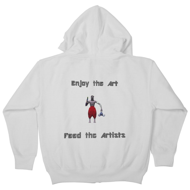 Feed the Artists (Chyrkyan casual) Kids Zip-Up Hoody by CIULLO CORPORATION's Artist Shop