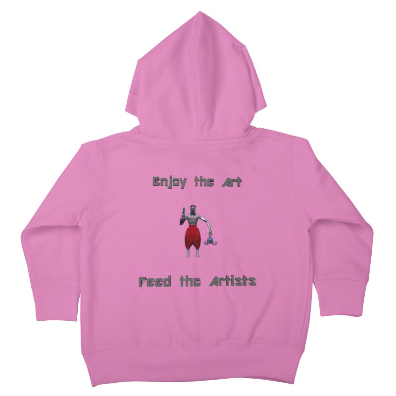 Feed the Artists (Chyrkyan casual) Kids Toddler Zip-Up Hoody by CIULLO CORPORATION's Artist Shop