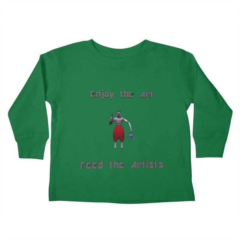 Feed the Artists (Chyrkyan casual) Kids Toddler Longsleeve T-Shirt by CIULLO CORPORATION's Artist Shop