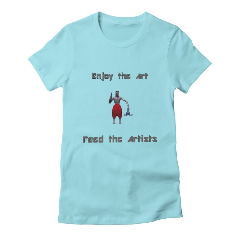 Feed the Artists (Chyrkyan casual) Women's Fitted T-Shirt by CIULLO CORPORATION's Artist Shop
