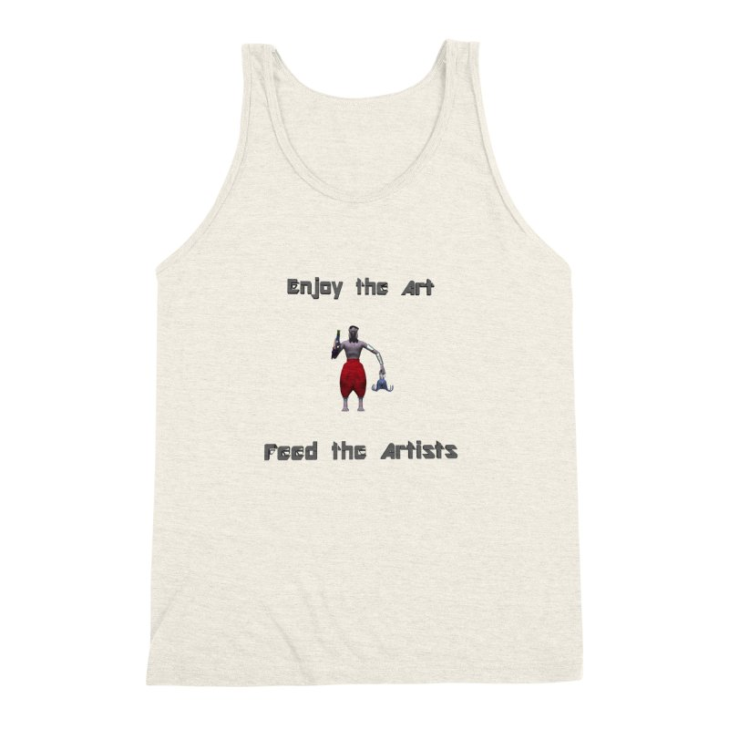 Feed the Artists (Chyrkyan casual) Men's Triblend Tank by CIULLO CORPORATION's Artist Shop