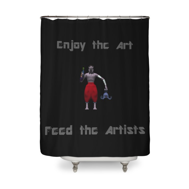 Feed the Artists (Chyrkyan casual) Home Shower Curtain by CIULLO CORPORATION's Artist Shop