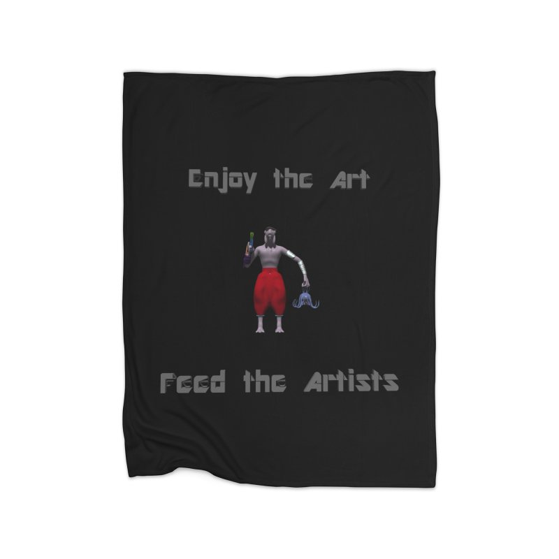 Feed the Artists (Chyrkyan casual) Home Blanket by CIULLO CORPORATION's Artist Shop