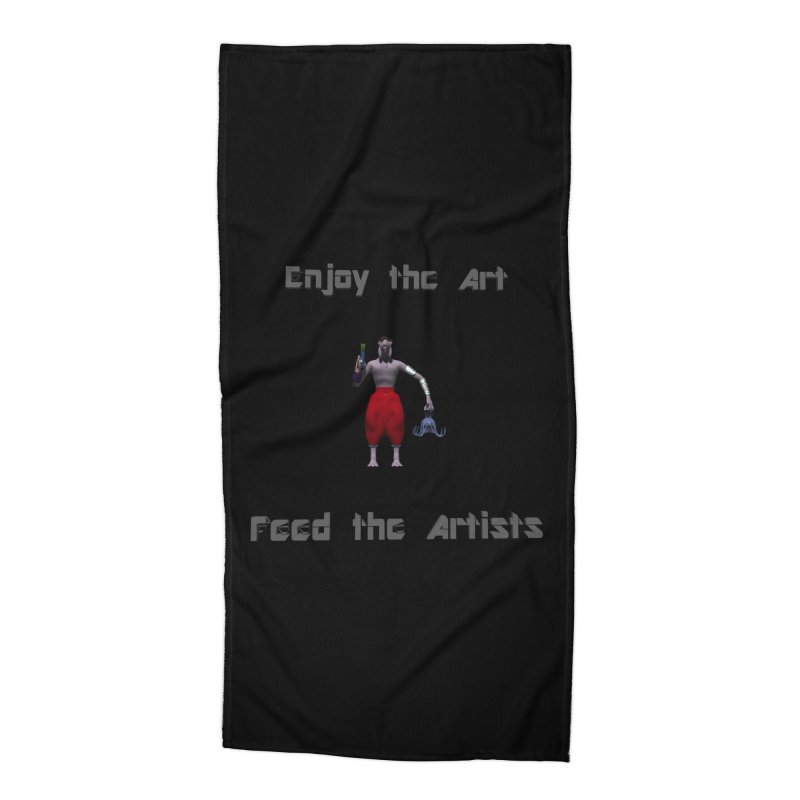 Feed the Artists (Chyrkyan casual) Accessories Beach Towel by CIULLO CORPORATION's Artist Shop