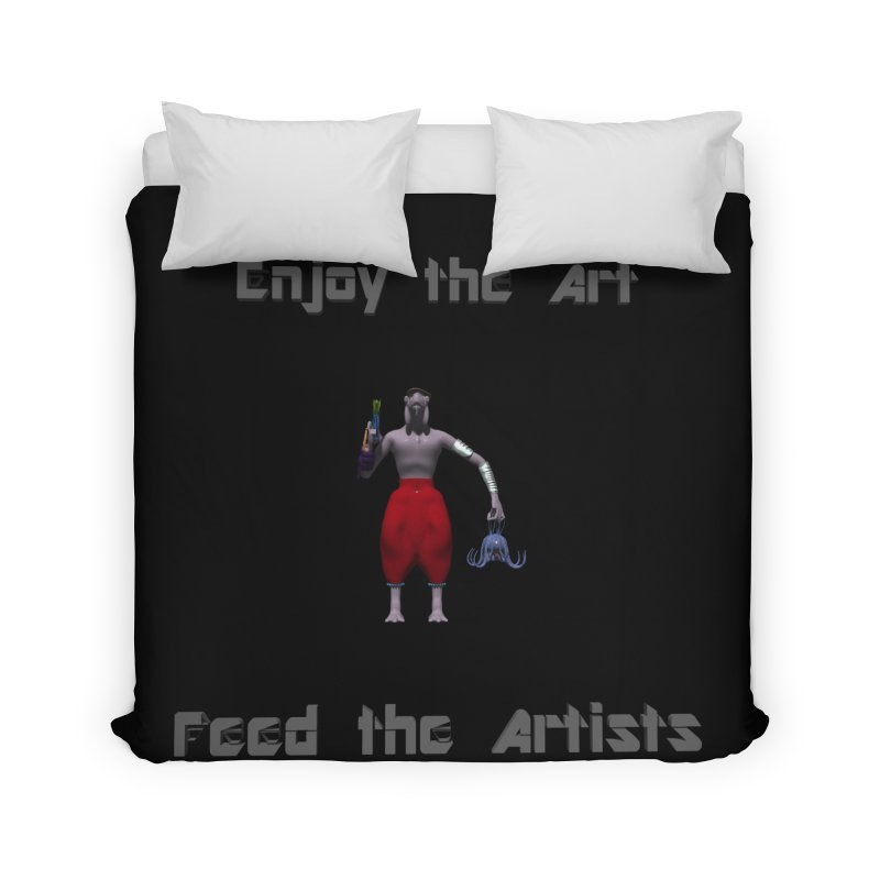 Feed the Artists (Chyrkyan casual) Home Duvet by CIULLO CORPORATION's Artist Shop