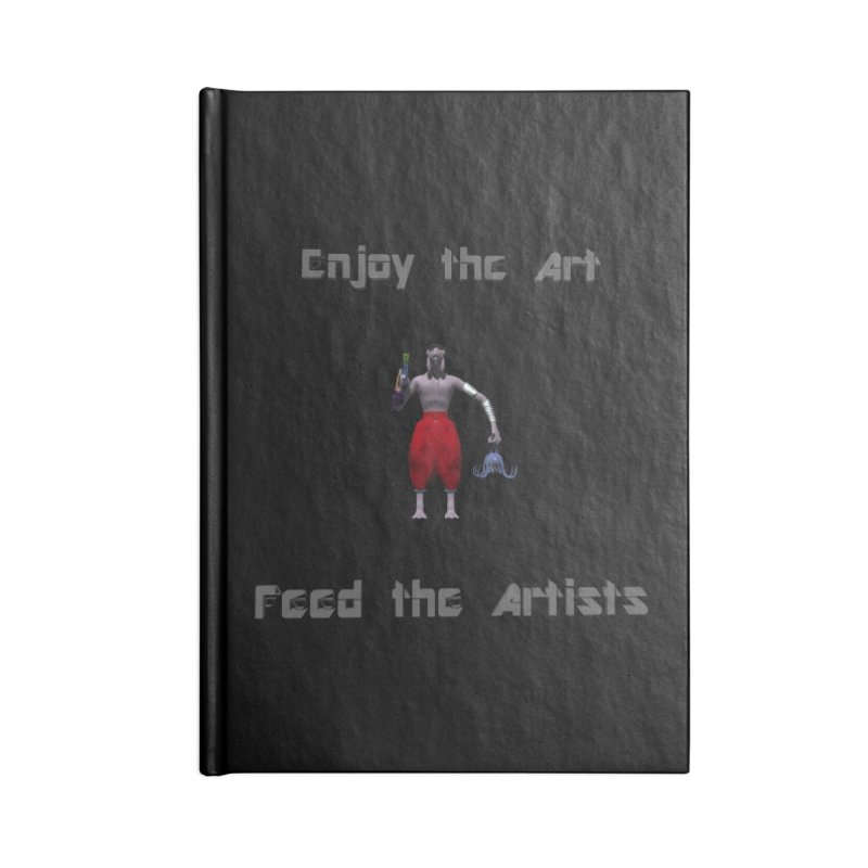 Feed the Artists (Chyrkyan casual) Accessories Notebook by CIULLO CORPORATION's Artist Shop