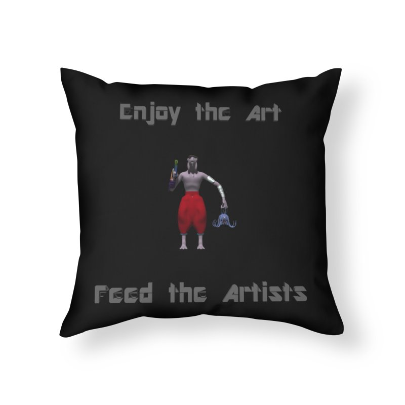 Feed the Artists (Chyrkyan casual) Home Throw Pillow by CIULLO CORPORATION's Artist Shop