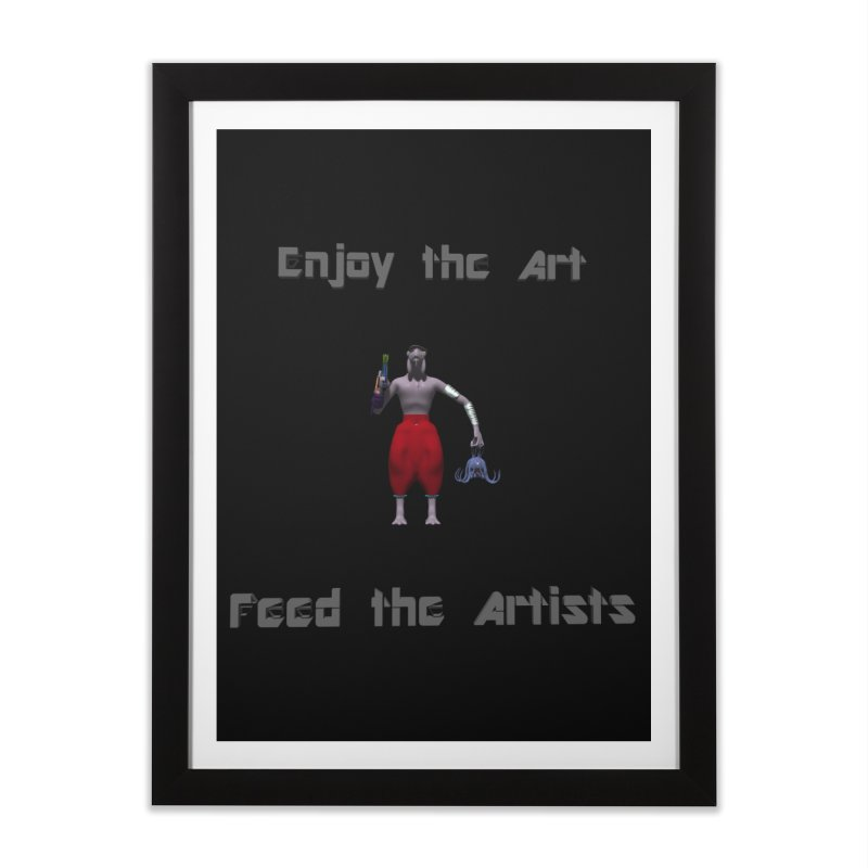 Feed the Artists (Chyrkyan casual) Home Framed Fine Art Print by CIULLO CORPORATION's Artist Shop