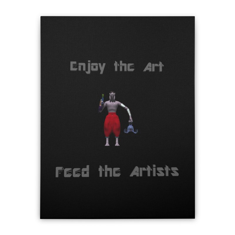 Feed the Artists (Chyrkyan casual) Home Stretched Canvas by CIULLO CORPORATION's Artist Shop