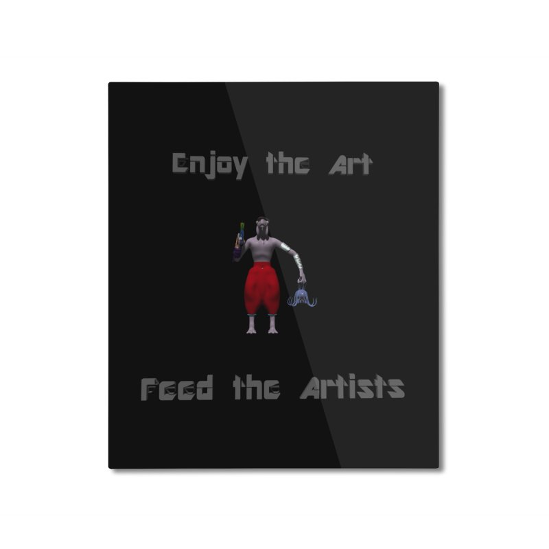 Feed the Artists (Chyrkyan casual) Home Mounted Aluminum Print by CIULLO CORPORATION's Artist Shop