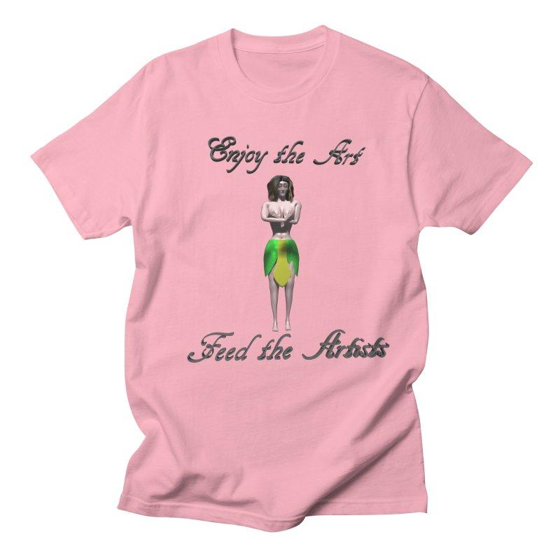Feed the Artists (Eldir she-elf) Men's T-Shirt by CIULLO CORPORATION's Artist Shop