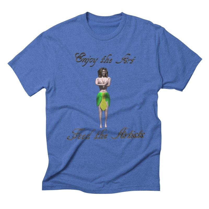Feed the Artists (Eldir she-elf) Men's Triblend T-Shirt by CIULLO CORPORATION's Artist Shop