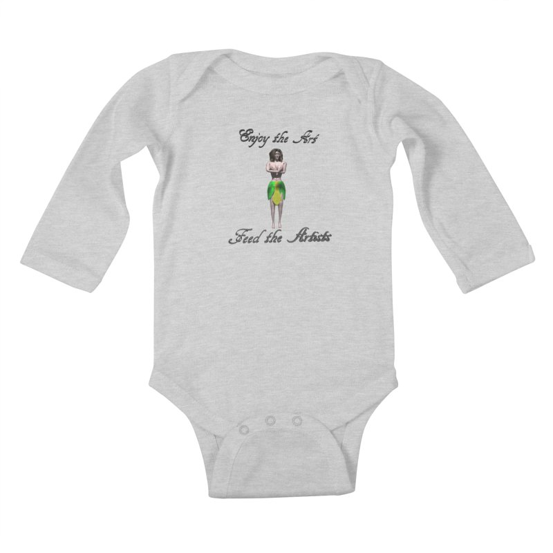 Feed the Artists (Eldir she-elf) Kids Baby Longsleeve Bodysuit by CIULLO CORPORATION's Artist Shop