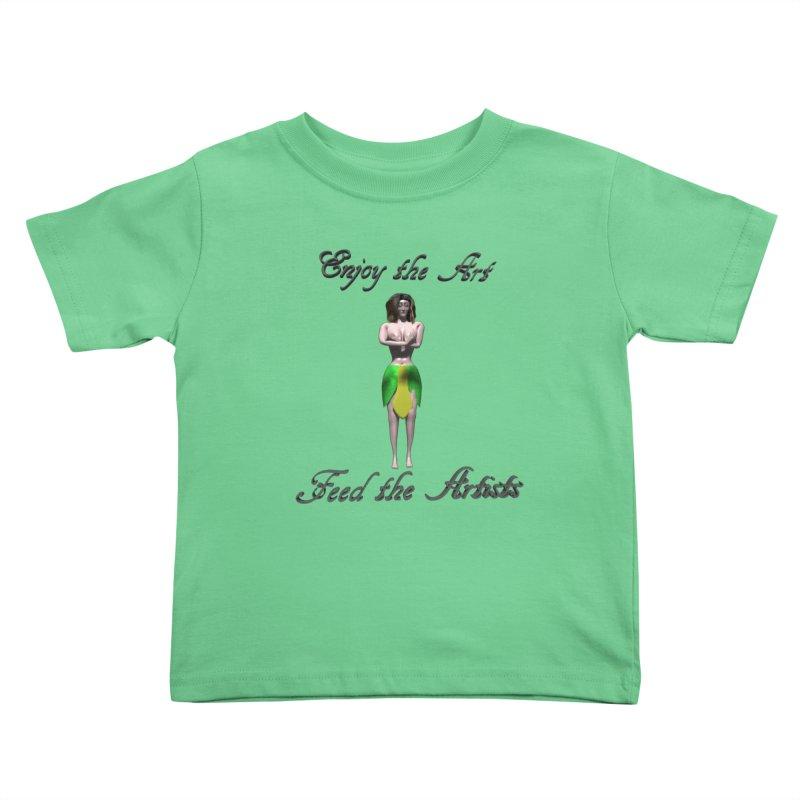 Feed the Artists (Eldir she-elf) Kids Toddler T-Shirt by CIULLO CORPORATION's Artist Shop