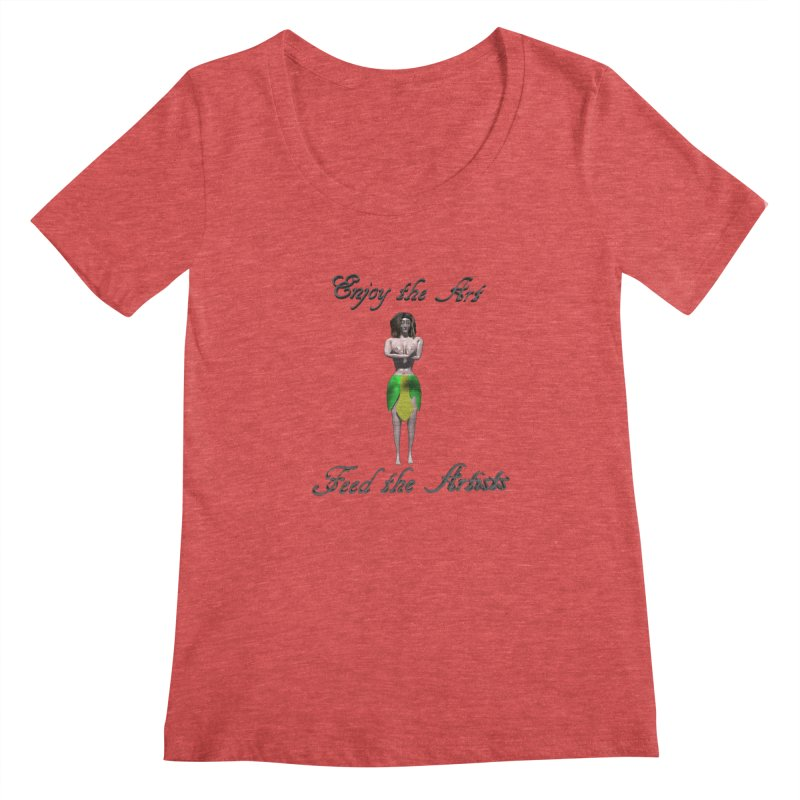Feed the Artists (Eldir she-elf) Women's Scoop Neck by CIULLO CORPORATION's Artist Shop