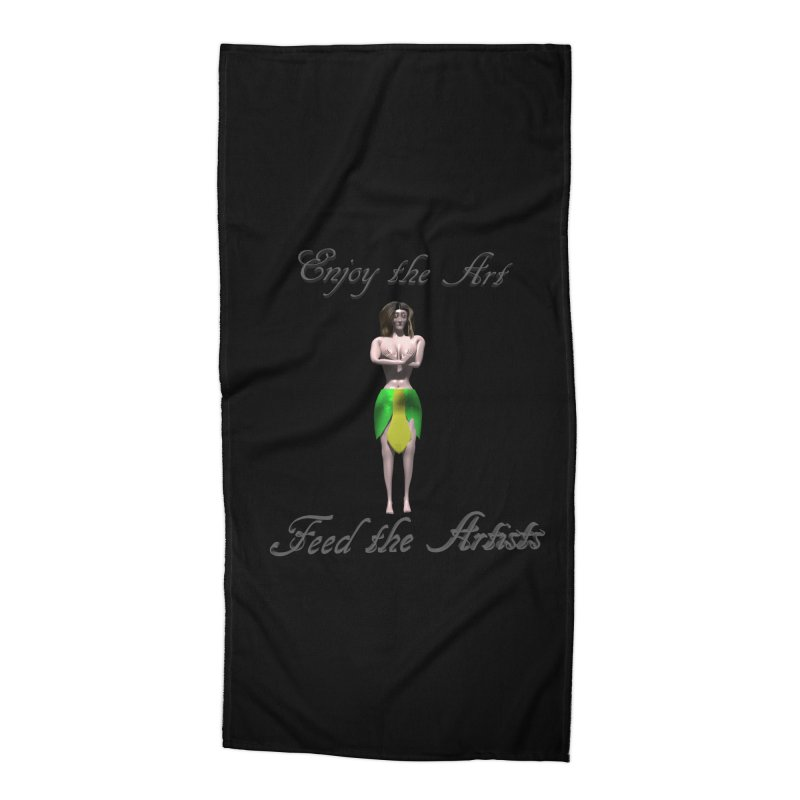 Feed the Artists (Eldir she-elf) Accessories Beach Towel by CIULLO CORPORATION's Artist Shop