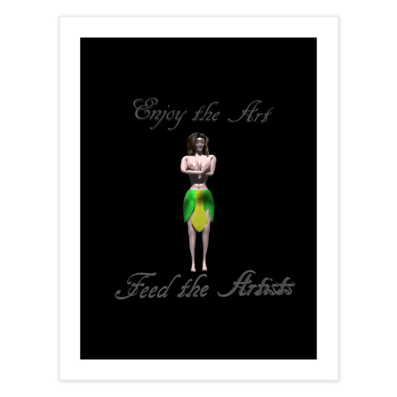 Feed the Artists (Eldir she-elf) Home Fine Art Print by CIULLO CORPORATION's Artist Shop