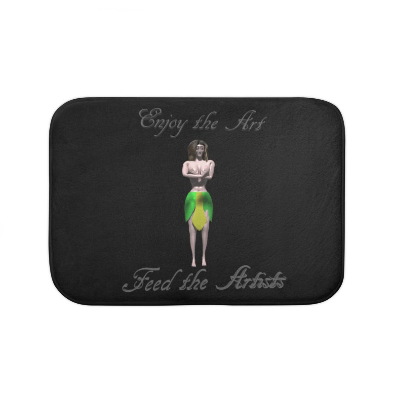 Feed the Artists (Eldir she-elf) Home Bath Mat by CIULLO CORPORATION's Artist Shop