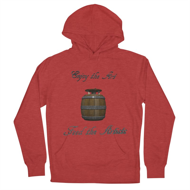 Feed the Artists (Barrel Gnome) Men's Pullover Hoody by CIULLO CORPORATION's Artist Shop