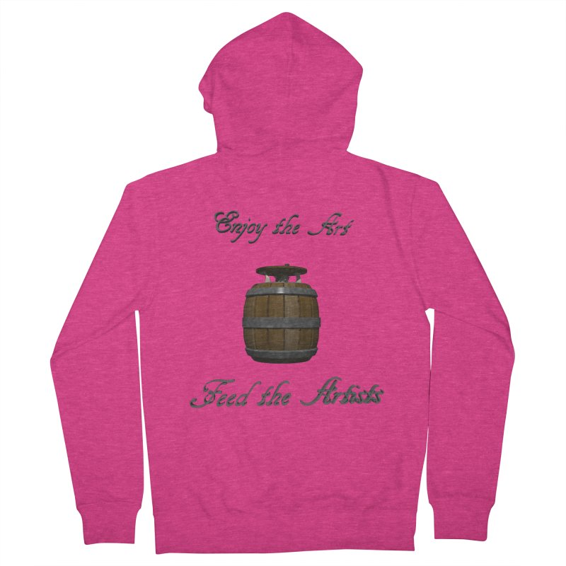 Feed the Artists (Barrel Gnome) Women's Zip-Up Hoody by CIULLO CORPORATION's Artist Shop